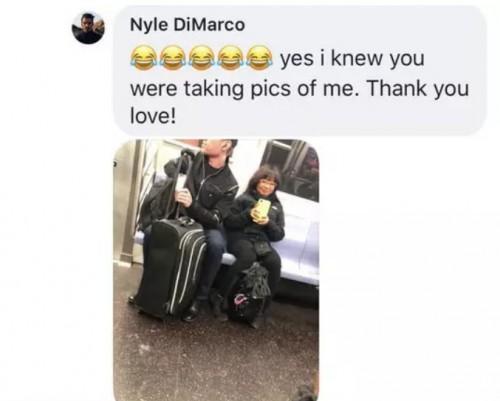 Μια κοπέλα έβγαλε κρυφά φωτογραφίες έναν όμορφο άνδρα στο μετρό και την πάτησε!!