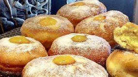 Ντόναντς σκέτος αφρός με πλούσια κρέμα λεμονιού !!!