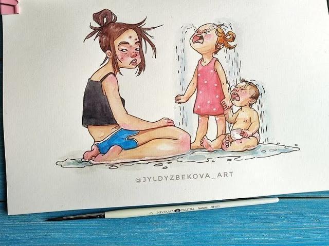8 εκπληκτικά σκίτσα που αποτυπώνουν την καθημερινότητα μιας μαμάς!