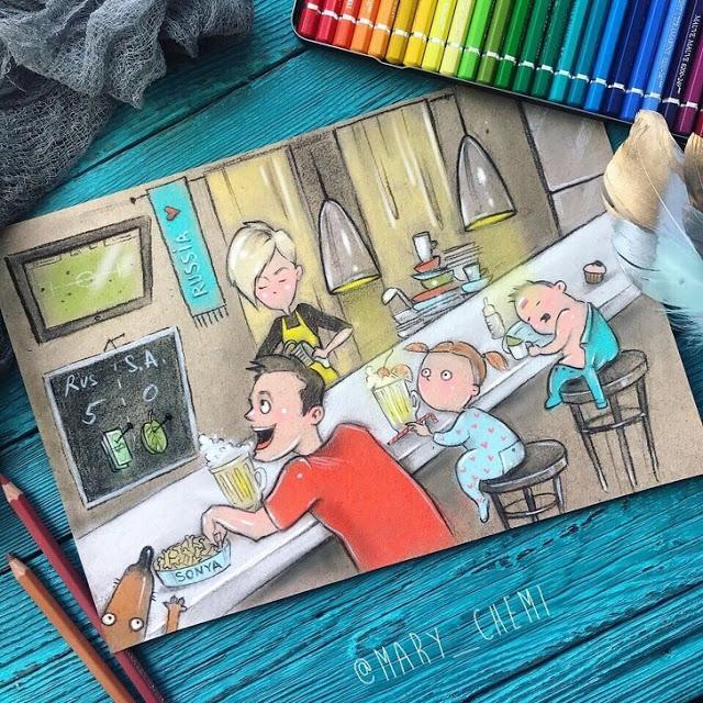 Η μαμά αυτή ζωγράφισε την καθημερινότητά της σε 10 σκίτσα και όλες οι μαμάδες ταυτίζονται μαζί τους!!