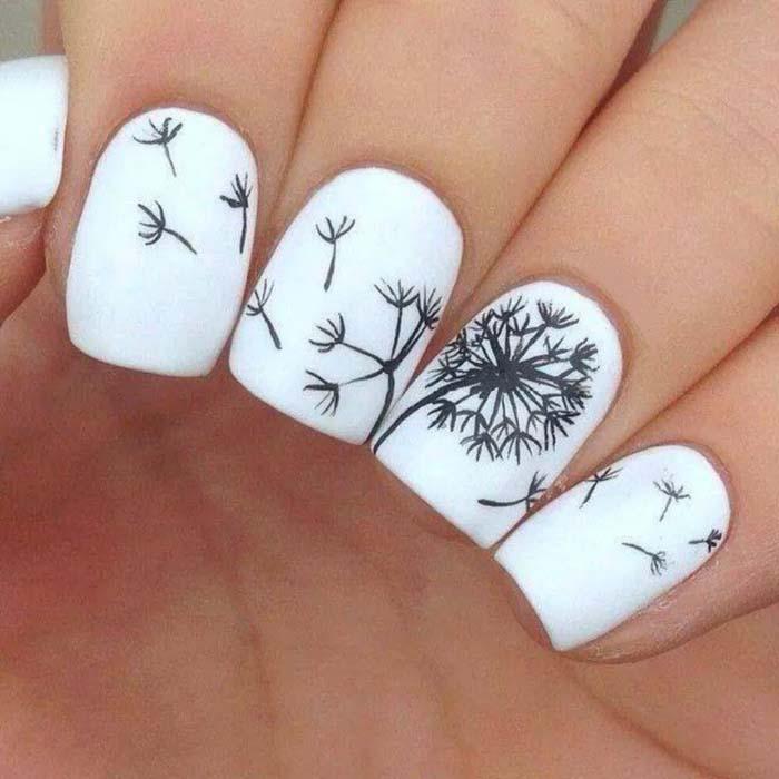 Λευκά νύχια: 45+ φανταστικά σχέδια μανικιούρ