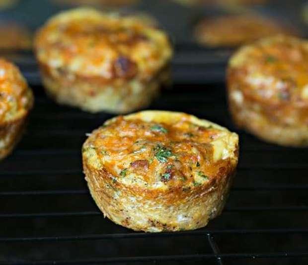 Υπέροχα Muffins με κιμά κοτόπουλο και βρώμη
