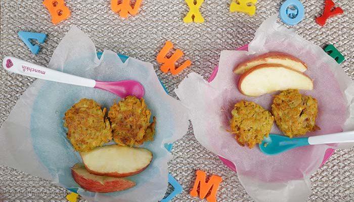 Μπιφτεκάκια τραγανά, νόστιμα χωρίς τηγάνι με πράσο, γλυκοπατάτα και μήλο