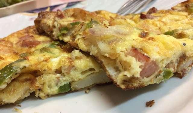 Αφρατη Ομελέτα φούρνου με λαχανικά !!!
