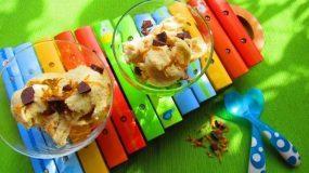 Εύκολο σπιτικό παγωτό μπανάνα πορτοκάλι