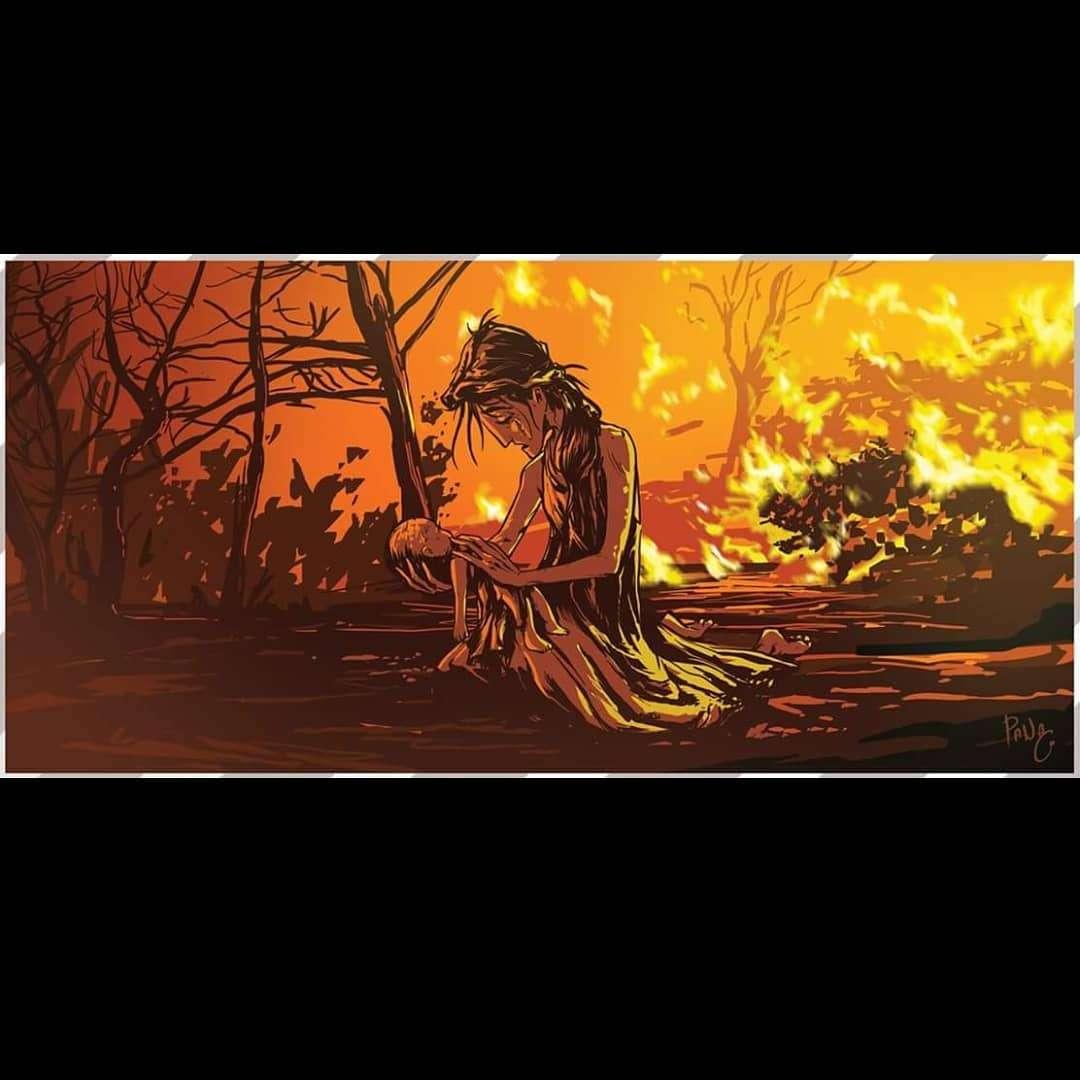 Προσεύχομαι για σένα που έχασες το παιδί σου στη φωτιά