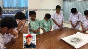 Ταϊλάνδη: Τα αγόρια που βγήκαν από τη σπηλιά δείχνουν το σεβασμό και την ευγνωμοσύνη τους στον άντρα που πέθανε για να τα σώσει