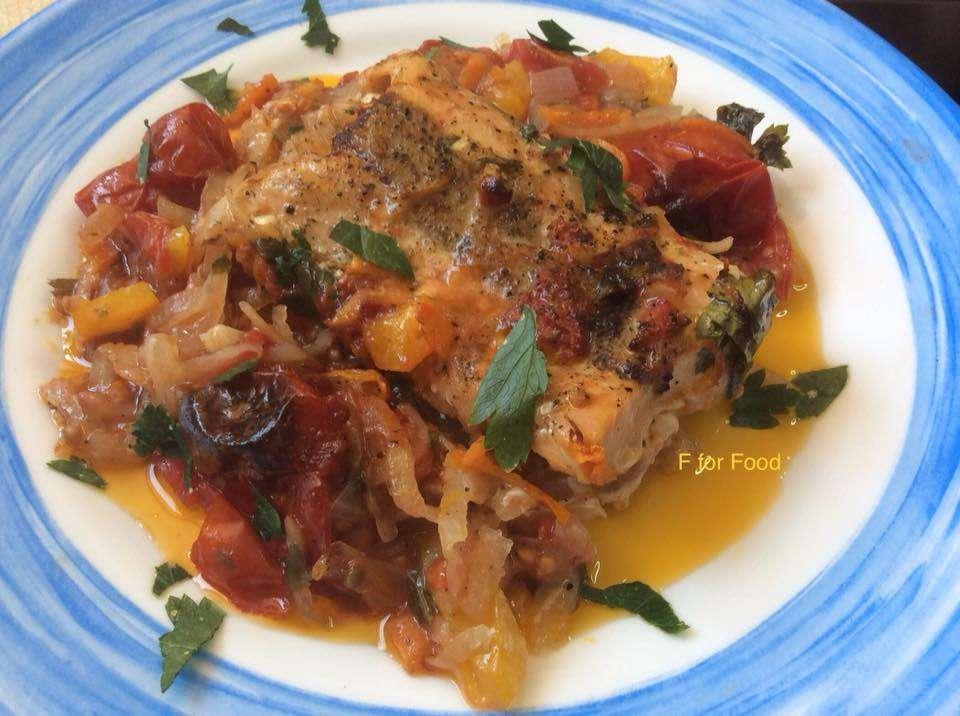 Πεντανόστιμο ψαρακι με λαχανικα στο φουρνο
