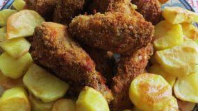 Τραγανές μπουκίτσες κοτόπουλο στο φούρνο σα τηγανιτό