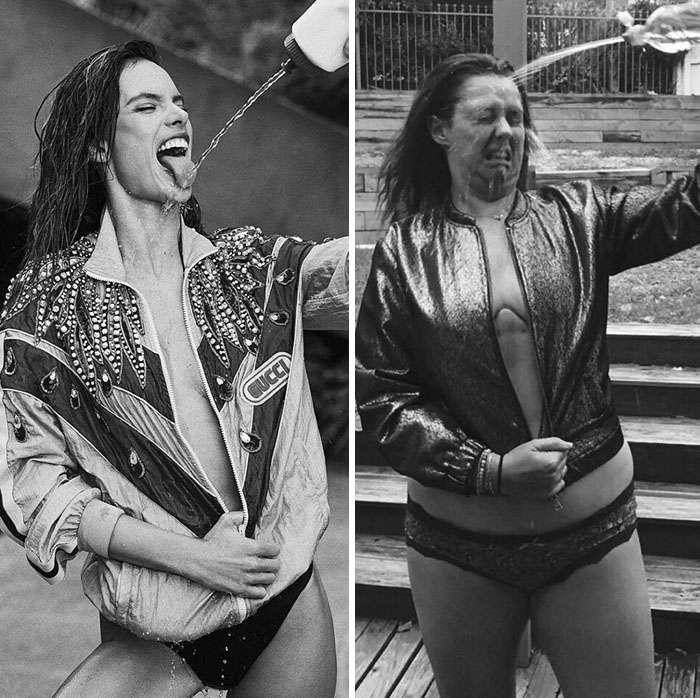 Μια γυναίκα δημιουργεί ξανά πόζες διάσημων με τον πιο αστείο τρόπο