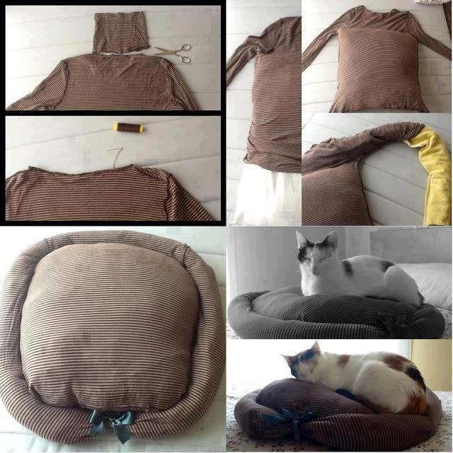 Πως μπορείτε Να Φτιάξετε Ένα Κρεβάτι Σκύλου Και Γάτας Μέσα Σε Λίγα Λεπτά!