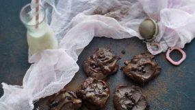 Λαχταριστά Μπισκότα σοκολάτας με αβοκάντο, χωρίς βούτυρο, χωρίς αλεύρι και ελάχιστη ζάχαρη