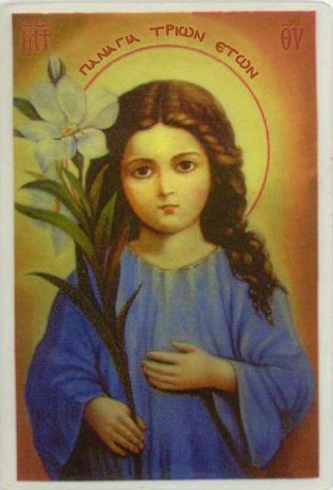 Αυτή είναι η μοναδική εικόνα της Παναγίας που την δείχνει τριών χρονών (ΦΩΤΟ)