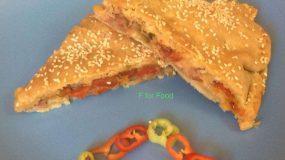 Πιπεροπιτα με τυρια και μπεικον