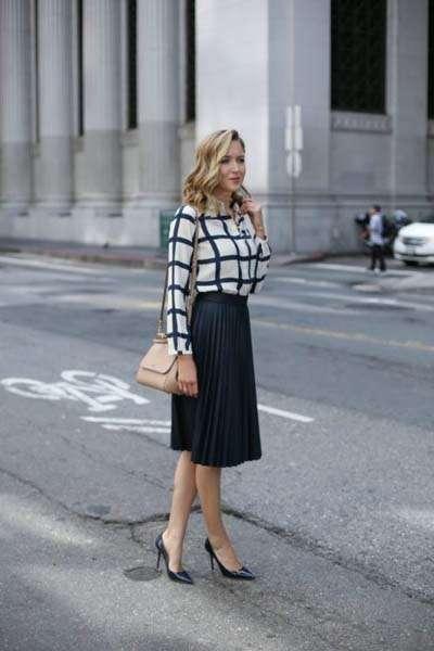 49+1 εντυπωσιακοί συνδυασμοί με ψηλόμεση φούστα