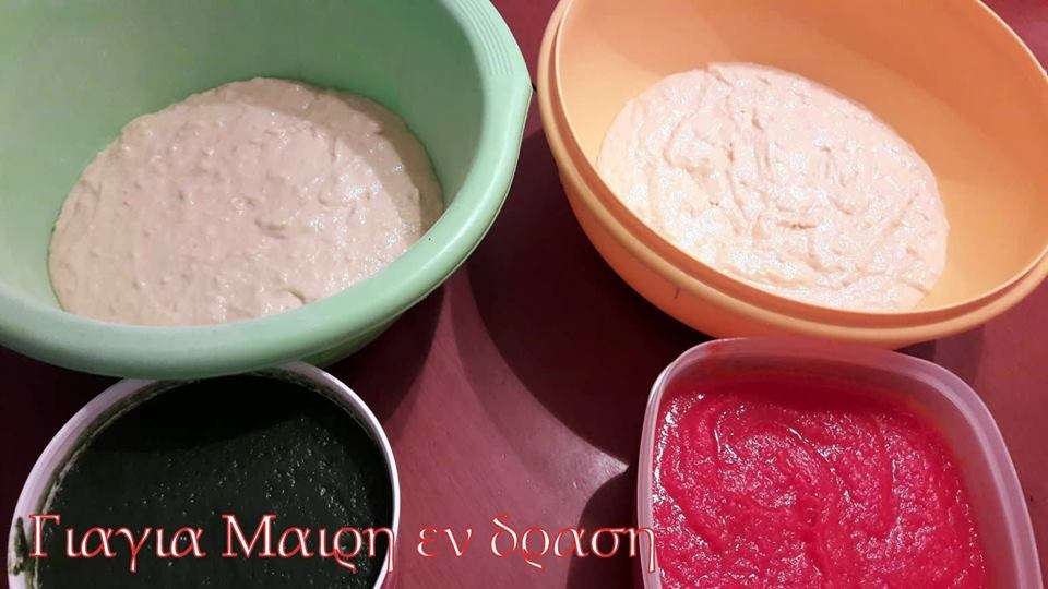 Λαχταριστές χυλοπίτες Tricolore by Mairh