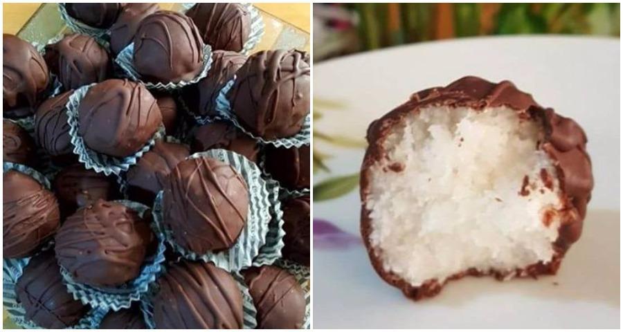 Πεντανόστιμα σοκολατάκια Bounty νηστίσιμα !!!