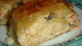 Κοτόπουλο ρολό σε φύλλο κρούστας ιδανικό για μπουφέ ή τραπέζι!