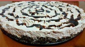 Λαχταριστό Γλυκό με γεμιστά μπισκότα και κρέμα μερεντας !!!