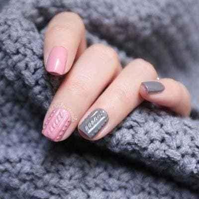 Πλεκτά νύχια: 29+1 ανάγλυφα χειμωνιάτικα σχέδια που θυμίζουν πουλόβερ