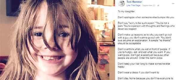 Τα «όχι» που θέλω να μάθει να λέει στη ζωή της η κόρη μου