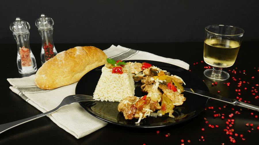 Πεντανόστιμη Τηγανιά κοτόπουλο με λαχανικά