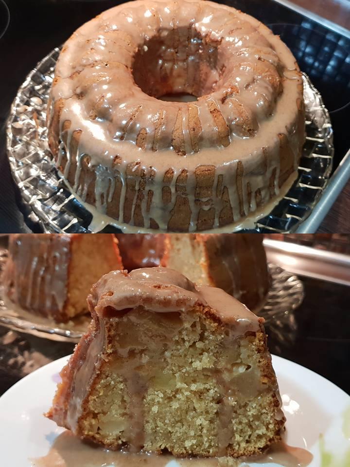 Κέικ μήλου με γλάσο κανέλας για να συνοδεύσετε το καφεδάκι σας!
