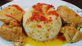 Λεμονάτο κοτόπουλο κατσαρόλας με πιπεριές Φλωρίνης και ρύζι μπασμάτι που θα ξετρελάνει τα παιδάκια σας