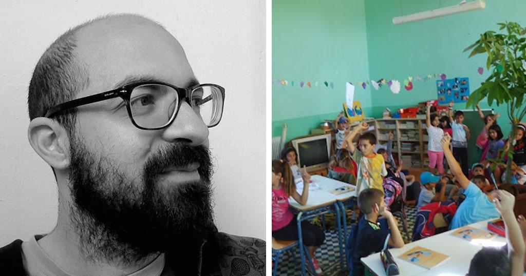 O νεαρός δάσκαλος έφτιαξε ένα αλλιώτικο σχολείο στο ορεινό Ρέθυμνο.