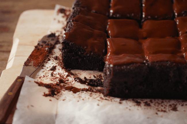 Υγρό κέικ σοκολάτας με γάλα καρύδας για κέρασμα!