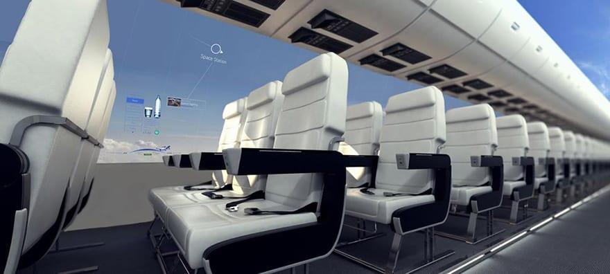 Απίστευτο- Σε 10 χρόνια τα αεροπλάνα δεν θα έχουν παράθυρα και θα προσφέρουν πανοραμική θέα στους επιβάτες