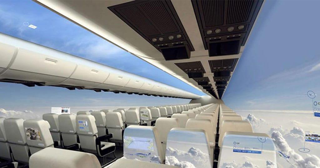 Απίστευτο! Σε 10 χρόνια τα αεροπλάνα δεν θα έχουν παράθυρα και θα προσφέρουν πανοραμική θέα στους επιβάτες