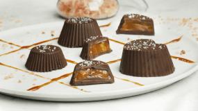 Λαχταριστά σοκολατάκια με καραμέλα βουτύρου (5 υλικά)