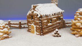 Πανέμορφο Χριστουγεννιάτικο μπισκοτόσπιτο με πουράκια