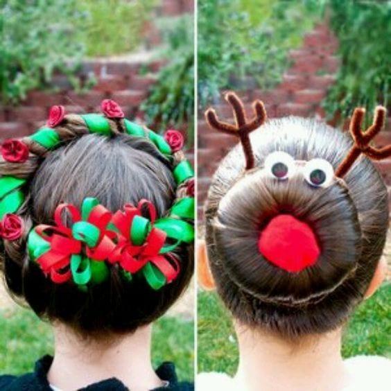 Υπέροχα γιορτινά χτενίσματα για τις μικρές σας πριγκίπισες τα Χριστούγεννα