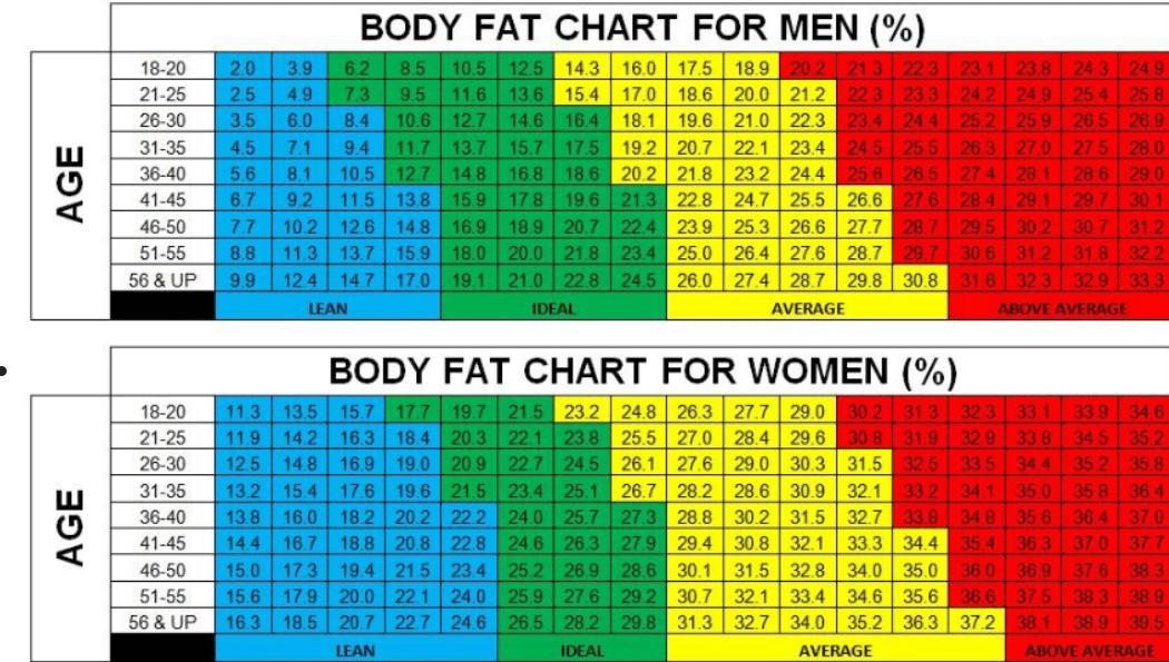 Ποσοστό λίπους στο σώμα: Υπολογίστε ΕΔΩ το δικό σας – Τι σημαίνει το αποτέλεσμα