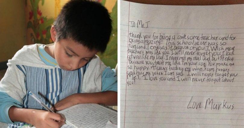 Ένα μικρό παιδί που δεν πρόλαβε να γνωρίσει τον μπαμπά του, γράφει στον δάσκαλο του ένα γράμμα και γίνεται γρήγορα viral
