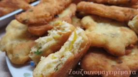 Τηγανίτες με τυρί και κολοκυθάκι!
