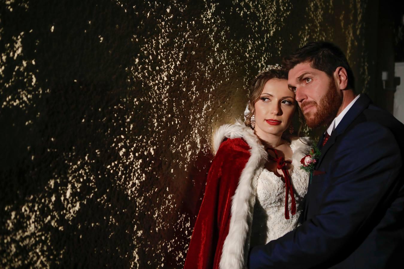 Νύφη στην Κεφαλονιά πήγε με έλκηθρο στην εκκλησιά ντυμένη σαν να βγήκε από παραμύθι