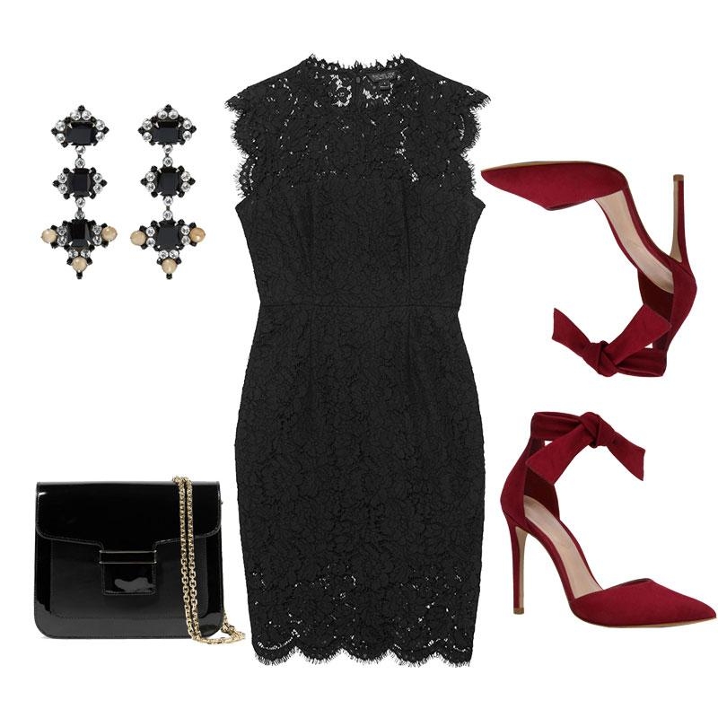 Ιδέες για γιορτινό ντύσιμο με μαύρο φόρεμα