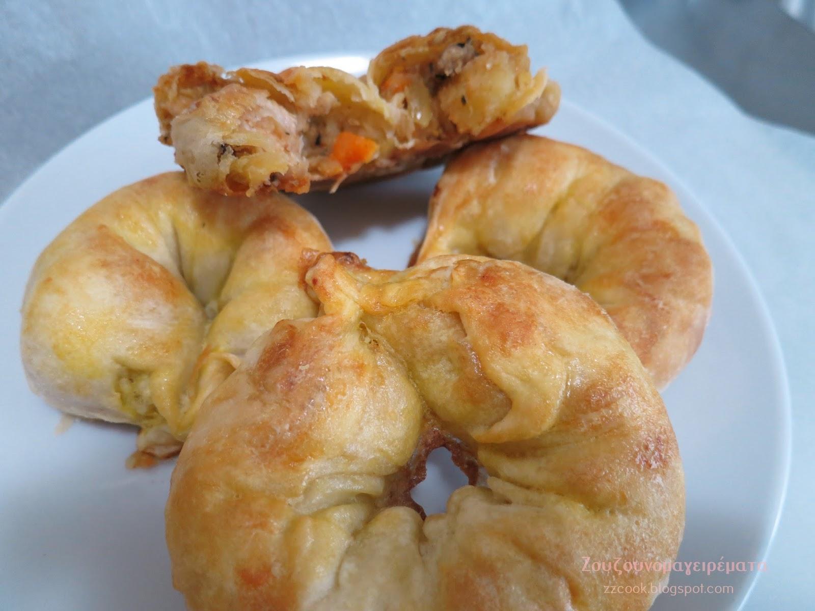 Δαχτυλίδια γεμιστά με πικάντικο κοτόπουλο και πατάτα!