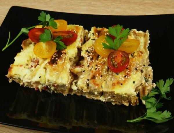 Υγιεινή και διαφορετική ανοιχτή πίτα με φύλλο ολικής αλέσεως