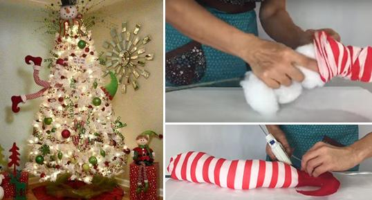 Δείτε Πως Να Φτιάξετε Πόδια Ξωτικού Για Το Χριστουγεννιάτικο Δέντρο Χωρίς Ράψιμο! - {ΒΙΝΤΕΟ}