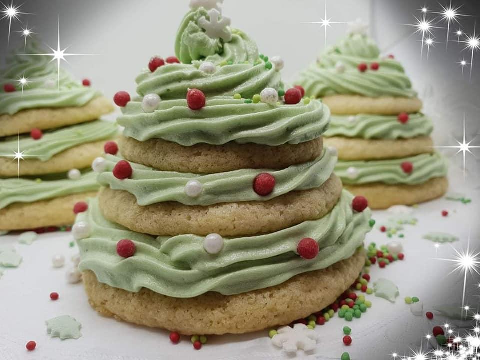 Χριστουγεννιάτικα δεντράκια με μπισκότα και βουτυροκρεμα!!