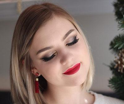 Υπέροχες Ιδέες για λαμπερό χριστουγεννιάτικο μακιγιάζ & τα βήματα δημιουργίας