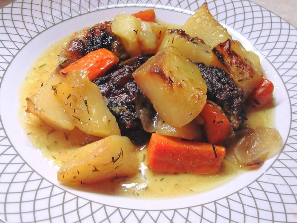 Μοσχαράκι λεμονάτο φούρνου με πατάτες!!!