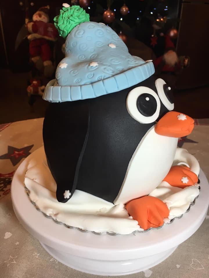 Τούρτα πιγκουίνος για γενέθλια