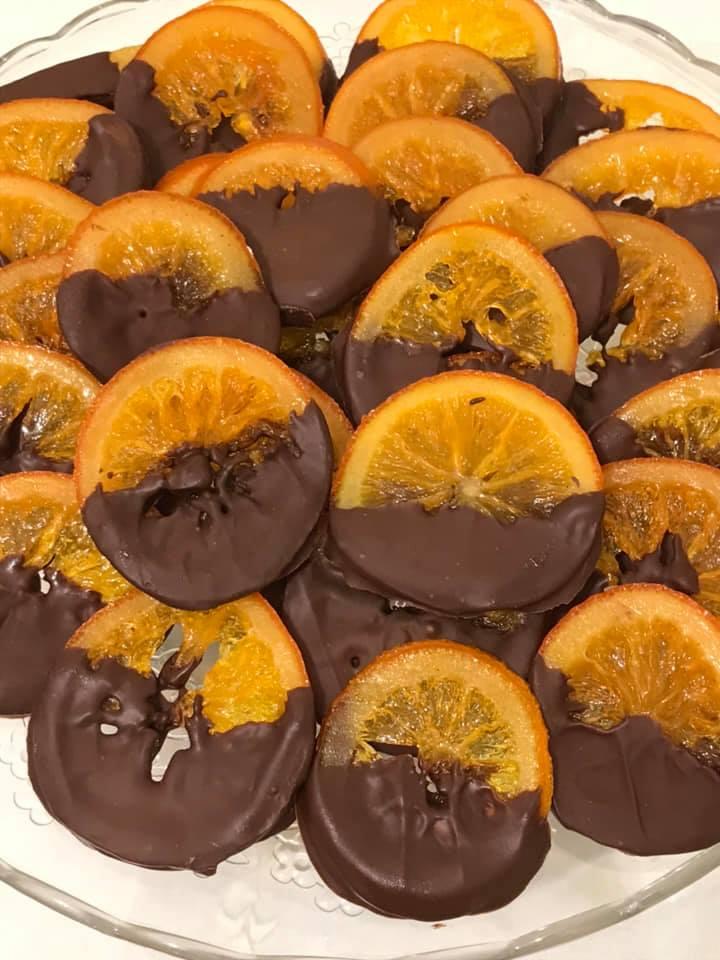 Πορτοκαλια καραμελωμενα με σοκολατα