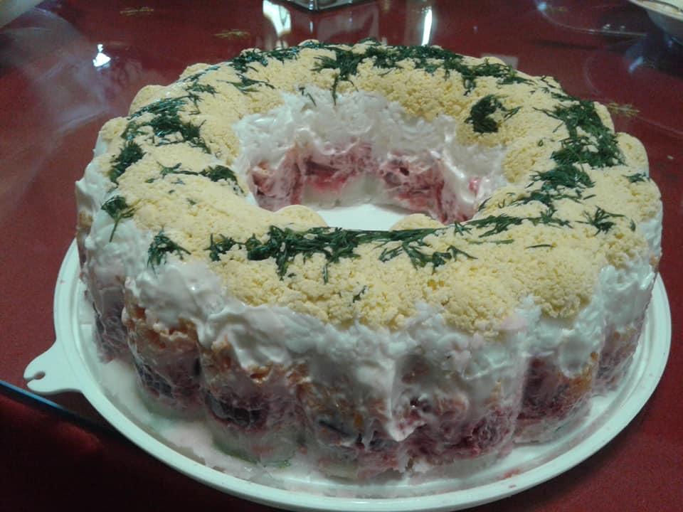 Σαλάτα τρίχρωμη γιορτινή
