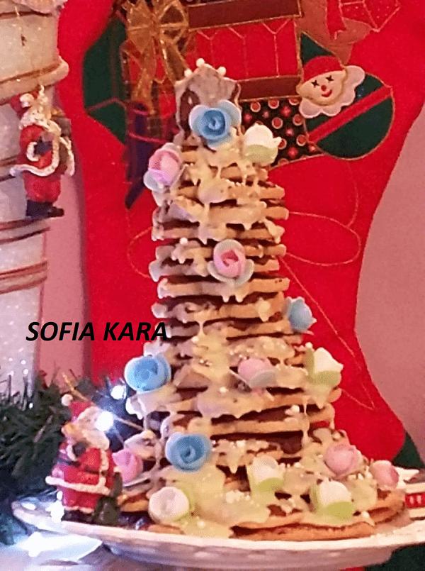 Ονειρεμένο μπισκοτόδεντρο για τις γιορτές των Χριστουγέννων!